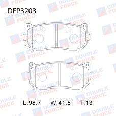 Колодки тормозные дисковые Double Force DFP3203