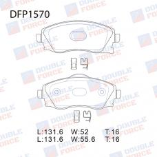 Колодки тормозные дисковые Double Force DFP1570