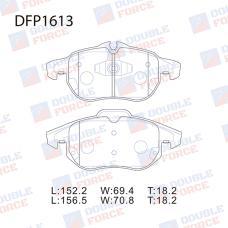 Колодки тормозные дисковые Double Force DFP1613