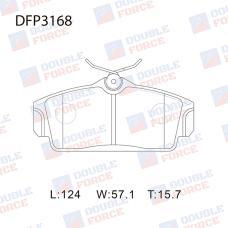 Колодки тормозные дисковые Double Force DFP3168
