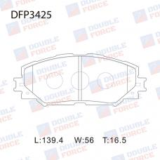 Колодки тормозные дисковые Double Force DFP3425