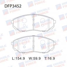 Колодки тормозные дисковые Double Force DFP3452