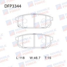 Колодки тормозные дисковые Double Force DFP3344
