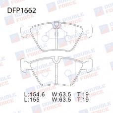 Колодки тормозные дисковые Double Force DFP1662