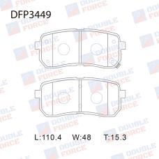 Колодки тормозные дисковые Double Force DFP3449