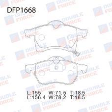 Колодки тормозные дисковые Double Force DFP1668