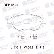Колодки тормозные дисковые Double Force DFP1624