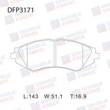 Колодки тормозные дисковые Double Force DFP3171