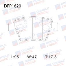 Колодки тормозные дисковые Double Force DFP1620