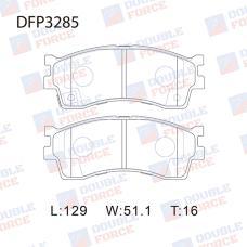 Колодки тормозные дисковые Double Force DFP3285