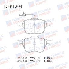 Колодки тормозные дисковые Double Force DFP1204