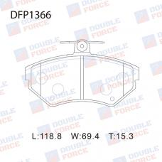 Колодки тормозные дисковые Double Force DFP1366