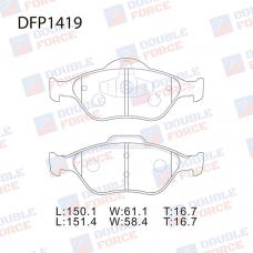 Колодки тормозные дисковые Double Force DFP1419
