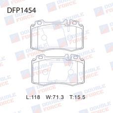 Колодки тормозные дисковые Double Force DFP1454