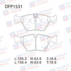 Колодки тормозные дисковые Double Force DFP1531