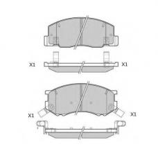 Колодки тормозные дисковые Double Force DFP3154