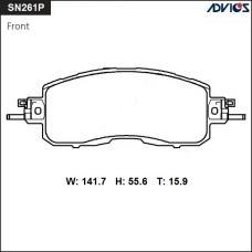 Дисковые тормозные колодки ADVICS SN261P