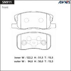 Дисковые тормозные колодки ADVICS SN911