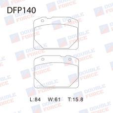 Колодки тормозные дисковые Double Force DFP140