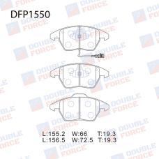 Колодки тормозные дисковые Double Force DFP1550