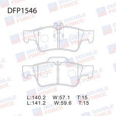 Колодки тормозные дисковые Double Force DFP1546