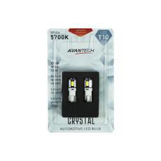 Лампа светодиодная Avantech 12V LED T10 W5W 5700K (резистор), ALB0104, комплект 2 шт.