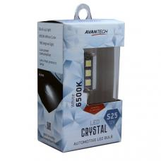 Лампа светодиодная Avantech 12V LED S25 BA15s 6500K, ALB0122, 1 шт.