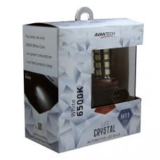 Лампа светодиодная Avantech H11 LED 12V 4,7W 6500K, ALB0129, комплект 2 шт.