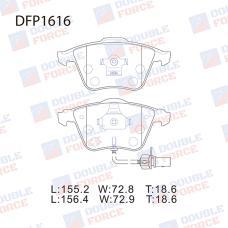 Колодки тормозные дисковые Double Force DFP1616