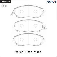 Дисковые тормозные колодки ADVICS SN227P