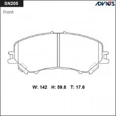 Дисковые тормозные колодки ADVICS SN205