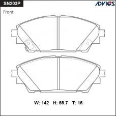 Дисковые тормозные колодки ADVICS SN203P