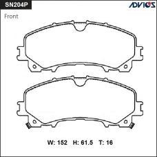 Дисковые тормозные колодки ADVICS SN204P
