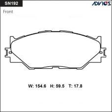 Дисковые тормозные колодки ADVICS SN192