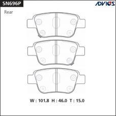 Дисковые тормозные колодки ADVICS SN696P