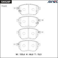 Дисковые тормозные колодки ADVICS SN928P