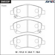 Дисковые тормозные колодки ADVICS SN933P