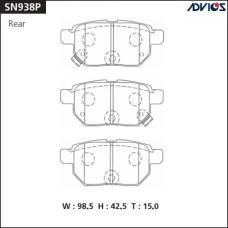 Дисковые тормозные колодки ADVICS SN938P