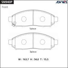 Дисковые тормозные колодки ADVICS SN940P