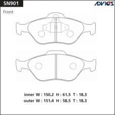 Дисковые тормозные колодки ADVICS SN901