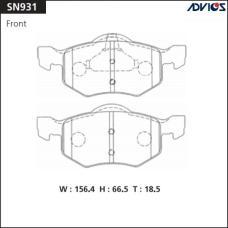 Дисковые тормозные колодки ADVICS SN931