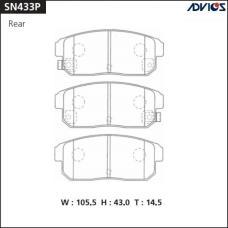 Дисковые тормозные колодки ADVICS SN433P