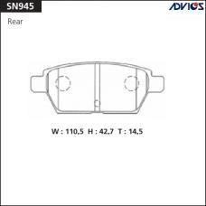 Дисковые тормозные колодки ADVICS SN945