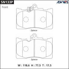Дисковые тормозные колодки ADVICS SN133P