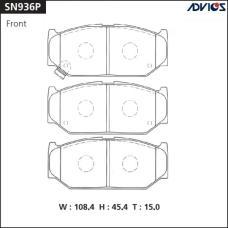 Дисковые тормозные колодки ADVICS SN936P