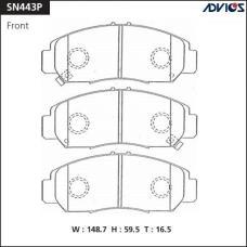 Дисковые тормозные колодки ADVICS SN443P