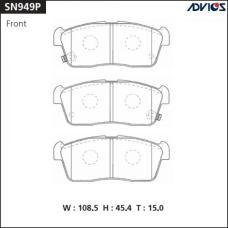 Дисковые тормозные колодки ADVICS SN949P