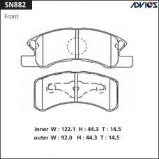 Дисковые тормозные колодки ADVICS SN882